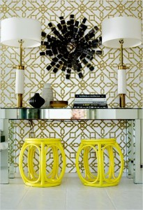 Symmetrical-console-talbe-display-and-decorating